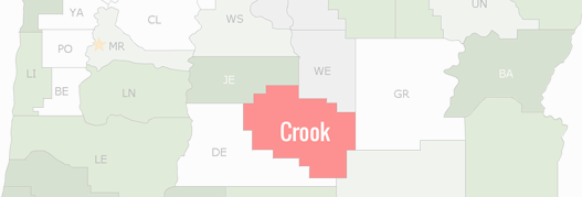 Crook County Map