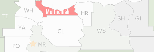 Multnomah County Map